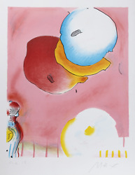 Peter Max Two Floating Lithograph Signed And Numbered In Pencil