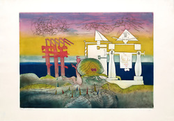 Roberto Matta 8pm From Land039arc Obscur Des Heures Aquatint Etching Signed And Nu