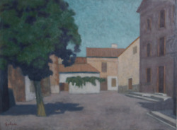 Laurent Marcel Salinas St. Cyprien Village 102 Gouache On Paper Signed