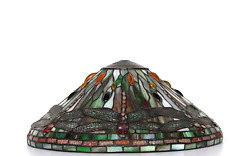Unknown Artist Dragonfly Lamp Shade Stained Glass