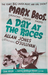 Unknown Artist - Poster, Marx Bros. 'a Day At The Races', Movie Poster