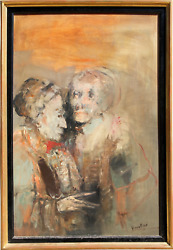 Francois Heaulme Man And Woman Oil On Canvas Signed