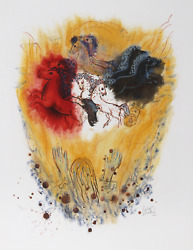 Reuven Rubin Xi From Visions Of The Bible Lithograph Signed And Numbered In P