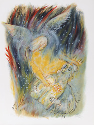 Reuven Rubin Vii From Visions Of The Bible Lithograph Signed And Numbered In