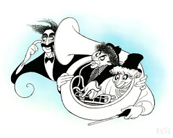 Al Hirschfeld Marx Brothers Night At The Opera Teal Lithograph Signed And