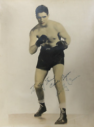 Unknown Artist Billy Conn Photograph Signed And Dedicated In Marker