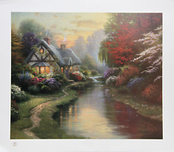Thomas Kinkade A Quiet Evening Offset Lithograph Signed And Numbered In Marke