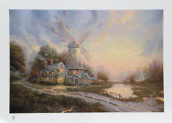 Thomas Kinkade The Wind Of The Spirit Offset Lithograph Signed And Numbered I