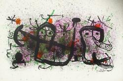 Joan Miro, Ma De Proverbis, Lithograph On Arches, Signed In The Plate