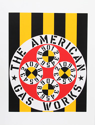 Robert Indiana, The American Gas Works From The American Dream Portfolio, Screen