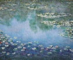 Michael Schreck Homage To Monet Ii Acrylic On Canvas Signed L.r.