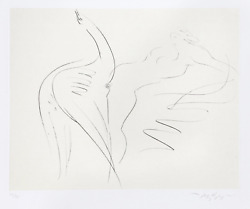 Reuben Nakian Leda And The Swan - 17 Drypoint And Chine Colle Signed And Numb