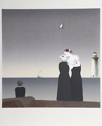Judith Bledsoe Peter Grimes Will Barnet Print With Collage Lithograph With P