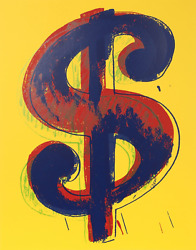 Andy Warhol, Dollar Sign Yellow, Screenprint, Stamped In Blue Verso