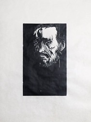 Leonard Baskin, Eakins, Woodcut Print On Rice Paper, Signed And Numbered In Penc