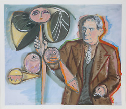 Larry Rivers Homage To Pablo Picasso Screenprint Signed And Numbered In Penci