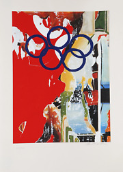 Mimmo Rotella Barcelona Screenprint On Arches Signed And Numbered In Pencil