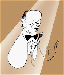 Al Hirschfeld, Frank Sinatra - Chairman Of The Board, Lithograph, Signed And Num