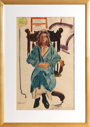 Emmet Edwards Eleanor Watercolor On Paper Signed Dated And Titled In Pencil