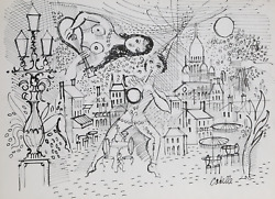 Charles Cobelle Paris Cafe Musicians Ink And Pencil On Paper Signed L.r.