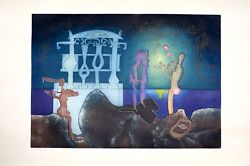 Roberto Matta 2am From Land039arc Obscur Des Heures Aquatint Etching Signed And Nu