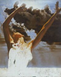 Sandu Liberman Nude In The Clouds Oil On Canvas Unsigned