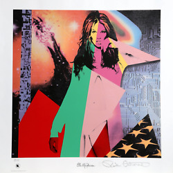 Ronnie Cutrone Elle Mcpherson Screenprint Signed And Numbered In Pencil With