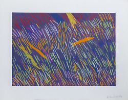 Ronnie Landfield Untitled Screenprint Signed Numbered And Dated In Pencil