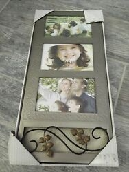Fetco Home Decor Picture Frame Holds Three 6quot; x 4quot; Photos