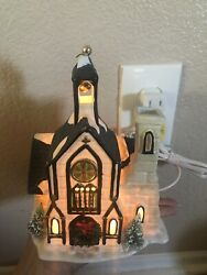 Vintage Christmas Valley Hand Painted Porcelain Light Up Church