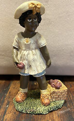 African American Girl Apple Picking Youngandrsquos Collectibles 1994 Black Americana 5andrdquo