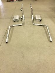 1965-1966 Chevy Belair, Biscayne And Impala Dual Exhaust, Aluminized, 396-427 C.i.