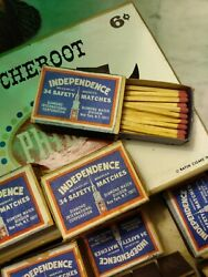 Independence Safety Matches Diamond Match  21 Packs And Cheroot Cigar Box
