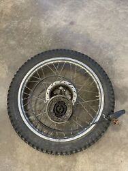 1978 Yamaha Dt125 Front Wheel And Break Drum As Is Needs Work See Details