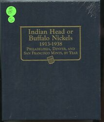 Whitman Classic Coin Album Indian Head Or Buffalo Nickels 1913-1938 9115- Rx648