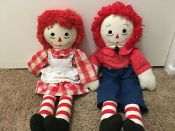 Vintage 1972 Raggedy Anne And Andy Dolls