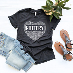 Premium Pottery Heart Lover T Shirt Gifts Ceramic Clay Artist Tshirt Gift