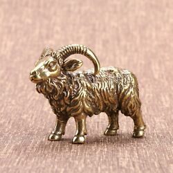 Solid Brass Goat Figurine Small Goat Statue House Decoration Animal Figurines