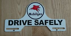 Mobilgas Mobiloil License Plate Topper And039drive Safelyand039 Metal Immatriculation