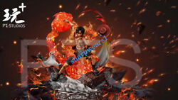 Pt Studio One Piece Portgas D Ace Resin Painted Collector Resin Statue 1/6 Gk