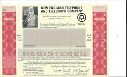 New England Telephone And Telegraph Company....specimen 5 Year Note Due 1992