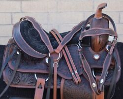 Used Western Horse Saddle Tack Package Leather Comfy Trail Endurance 16 17 18