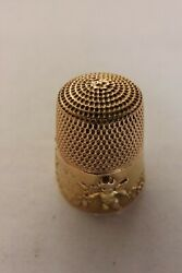 Antique English 9ct Gold Thimble Dancing Cupids By Simon Bros 1905 2251