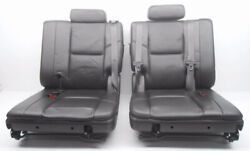 Oem Cadillac Escalade 3rd Third Row Seat Seats Black Leather W/ Seat Belts