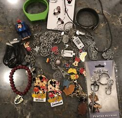 Disney Watches Necklaces, Bracelets, Key Rings Goofy Car Vintage And Other Misc