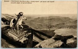 1920s Golden Colo. Postcard quot;PROPOSED BUFFALO BILL MONUMENT on Wild Cat Pointquot;