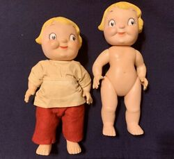 Campbell's Soup Kids Dolls Twin Pair Vintage Collectibles Circa 1960's