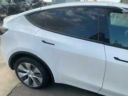 Tesla Model Y Rear Right Passenger Door Assembly Complete White Ppsw