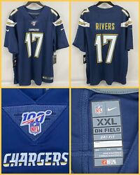 Nwt Men's Philip Rivers Los Angeles Chargers Navy Nfl 100 Limited Jersey - Xxl