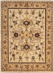 Hand-knotted Carpet 8'10 X 11'10 Bordered, Floral, Traditional Wool Rug